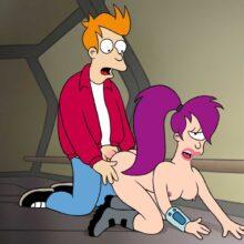 Fry and Leela from Futurama enjoying future sex xl-toons.win
