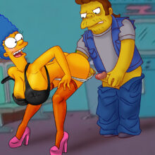 Marge having kinky sex with naughty Snake xl-toons.win