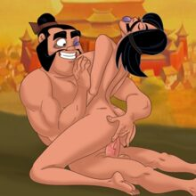 Mulan rides a big dick and gets cum all over her body! xl-toons.win