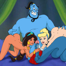 Cinderella has a threesome with Jasmine and Genie xl-toons.win