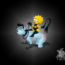Lisa riding Dr. Drakken whipping his ass xl-toons.win
